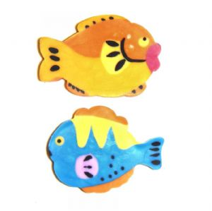 Tropical Fish - 3d Novelty Erasers Rubbers Set of 2